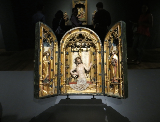 Portable Altar, oak with original polychrome, lead, copper and glass, Brussels (c. 1525-1540), Rijksmuseum, Amsterdam, Netherlands.