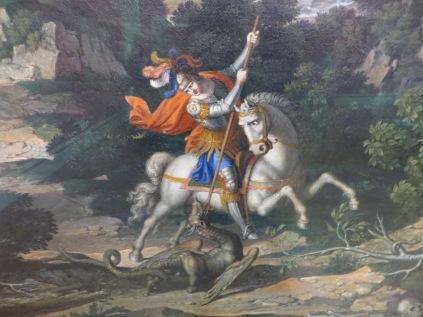 Heroic Landscape with St George, Joseph Anton Koch (1807).  Alte Pinakothek, Munich, German.