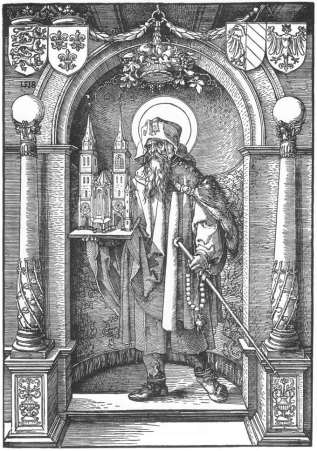 St. Sebald in the Niche (1518) by Albrecht Durer, courtesy Wikimedia Commons