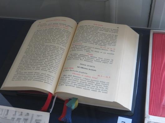 Breviary used by Cardinal Karol Wojtyla circa 1975, Archdiocesan Museum, Krakow, Poland
