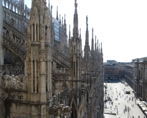 Milan Cathedral, as seen from roof