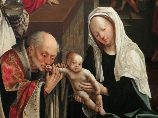 Adoration of the Magi (detail), Jacob Cornelisz van Oostsanen, oil on panel (1517), Rijksmuseum, Amsterdam