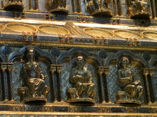 Shrine of the Three Kings (detail), Cologne Cathedral, Cologne, Germany