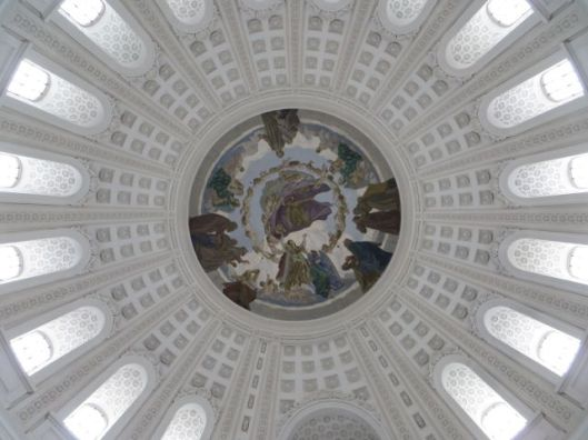 Interior Dome of the Cathedral of St. Blasien in the Black Forest, St. Blasien, Germany.  The   ceiling frescoes are by Walter Georgi.