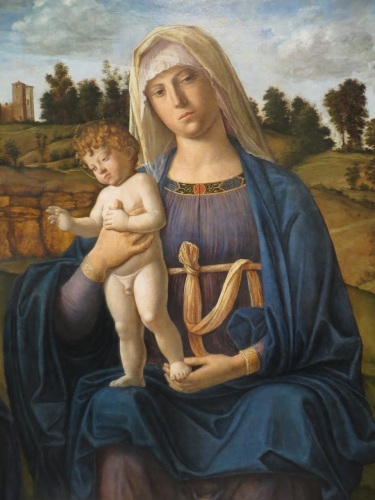 Madonna and Child with Saint Jerome and Saint John the Baptist, Cima da Conegliano, oil on panel (1492-1495), National Gallery of Art, Washington, D.C.