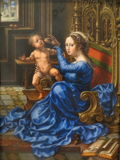 Madonna and Child, Jan Gossaert, oil on panel (c. 1532), National Gallery of Art, Washington, D.C.