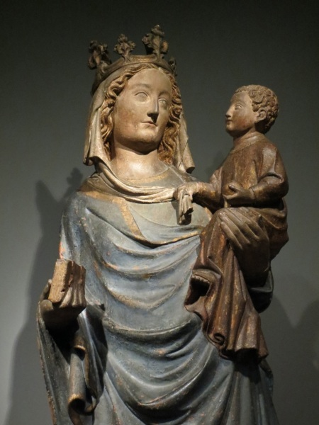 Virgin and Child, sandstone with traces of polychrome (c. 1325-1350).