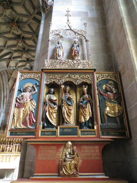Altar of Saint Bartolomen, Michael Wolgemut, Church of the Holy Cross, Rottweil, Germany