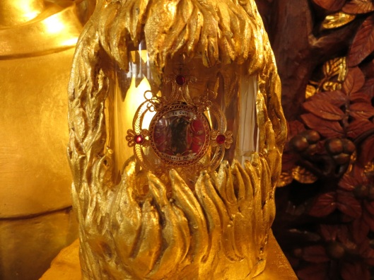 Reliquary of Saint Anthony, close-up of relic, the Shrine of Saint Anthony, Ellicott City, Maryland, USA.