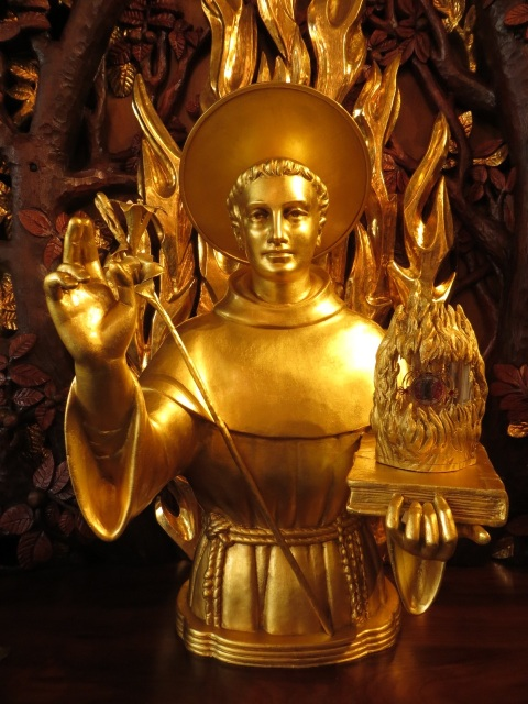 Reliquary of Saint Anthony, the Shrine of Saint Anthony, Ellicott City, Maryland, USA.