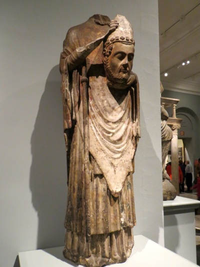 Saint Firmin Holding His Head, limestone and paint (c. 1225-75), Metropolitan Museum of Art, New York