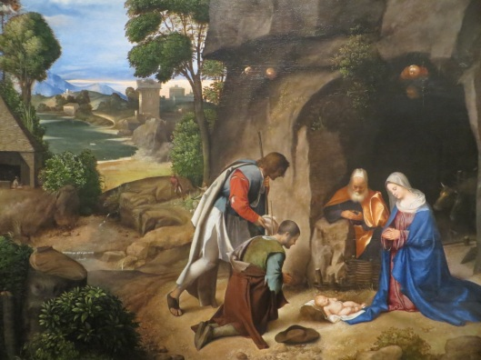 Giorgione, The Adoration of the Shepherds, oil on panel (1477), National Gallery of Art, Washington, DC