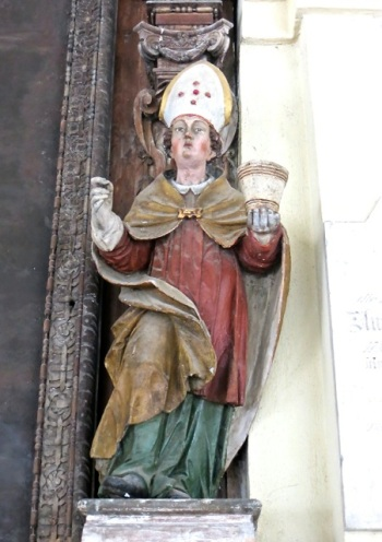 Statue of Saint Rupert, Cemetery of Saint Sebastian, Salzburg, Austria