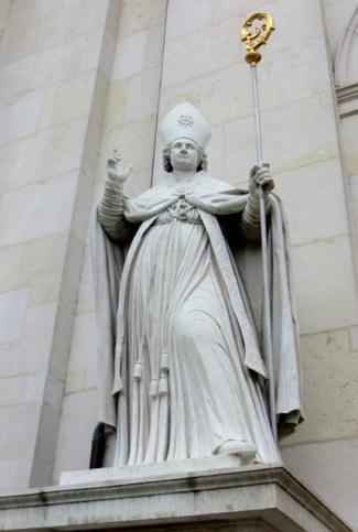 Statue of Saint Rupert, Salzburg Cathedral, Salzburg, Austria