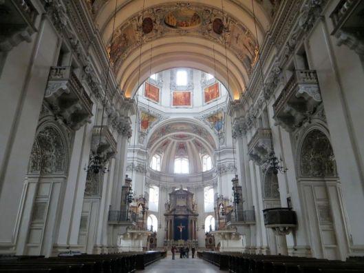 Interior of Salzburg Cathedral (Salzburger Dom), Salzburg, Austria