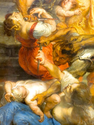 Peter Paul Rubens, Massacre of the Innocents (detail), oil on panel (c. 1638), Alte Pinakothek, Munich, Germany