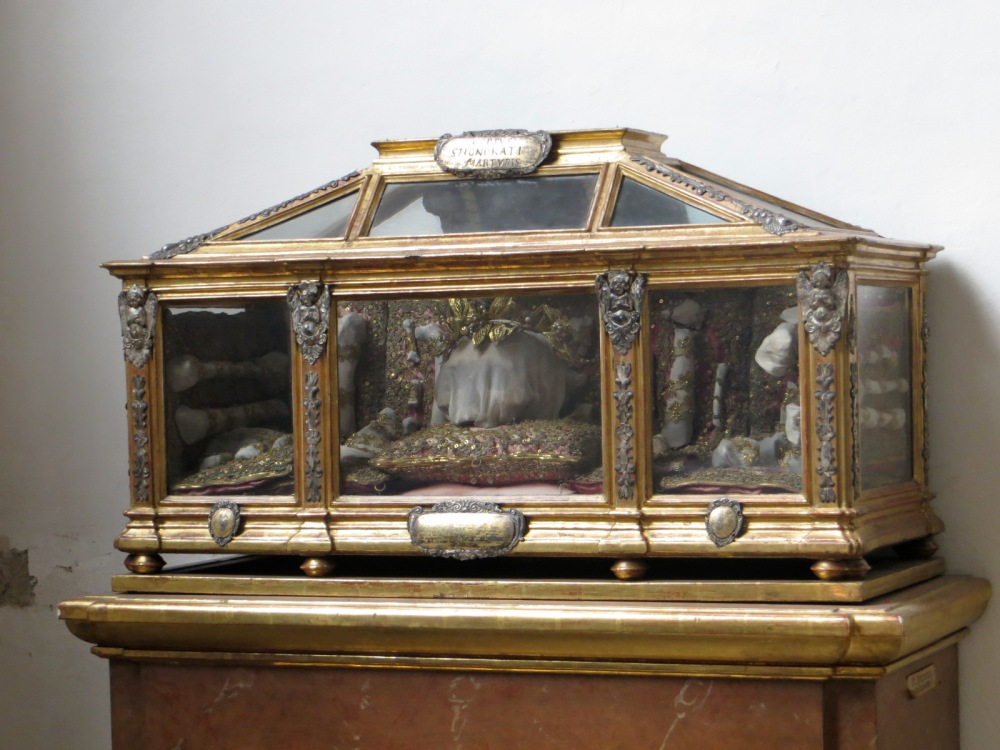 Relics of Saint Honoratus, Peterskirche, Munich Germany.