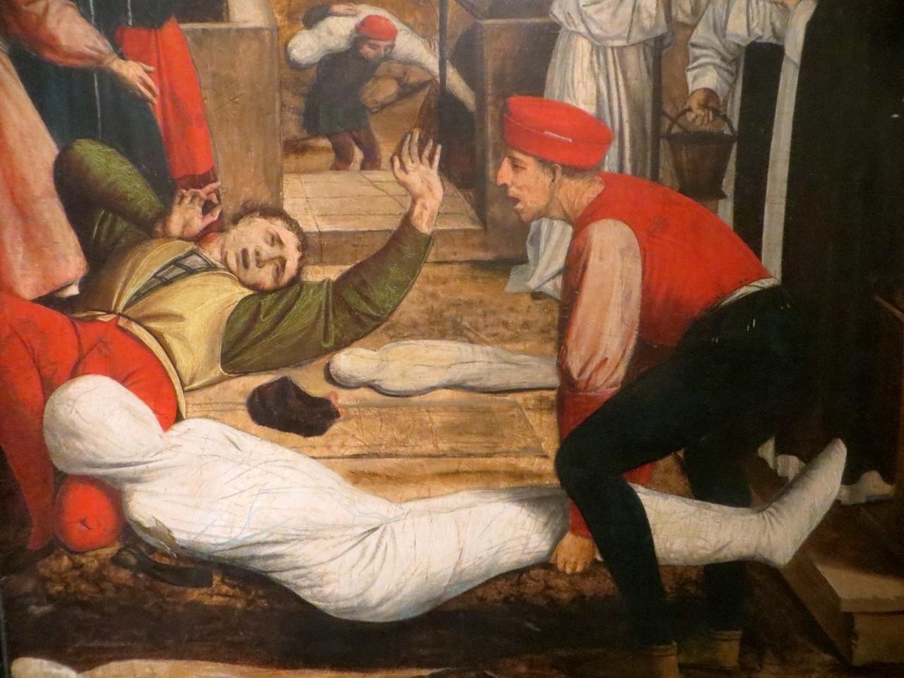 Josse Lieferinxe, Saint Sebastian Interceding for the Plague Stricken (1497-99), Walters Art Museum, Baltimore, Maryland
