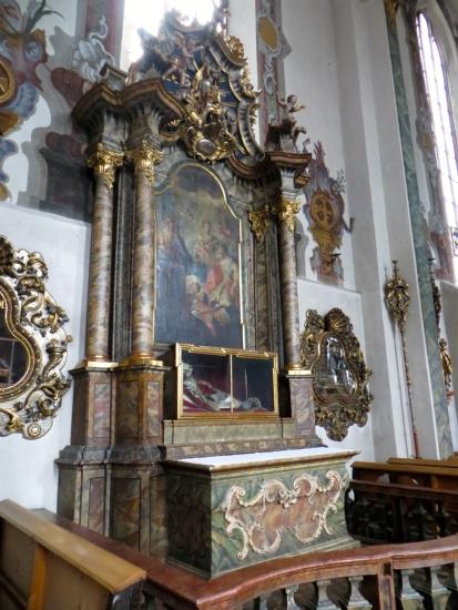 Relics of Saint Catherine, Pfarrkirche Sankt Nikolaus, Hall in Tirol, Austria