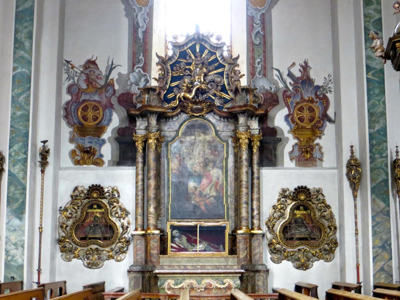 Relics of Catacomb Saints, Church of Saint Nikolaus, Hall in Tirol, Austria.