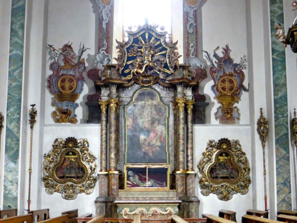 Relics of Catacomb Saints, Church of Saint Nikolaus, Hall in Tirol, Austria.