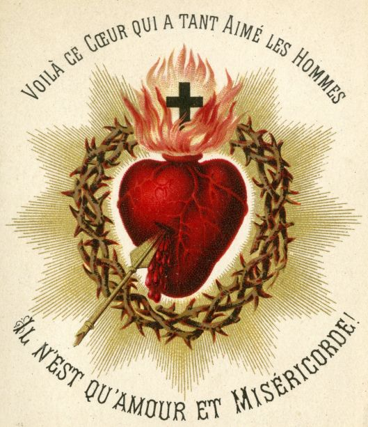 Sacred Heart Card - Univ of Dayton Libraries